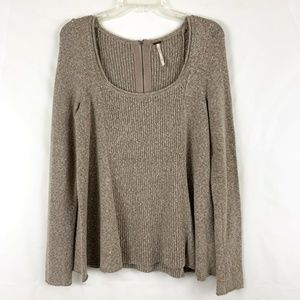 Free People Boucle Swing Pull Over  Sweater Ribbed